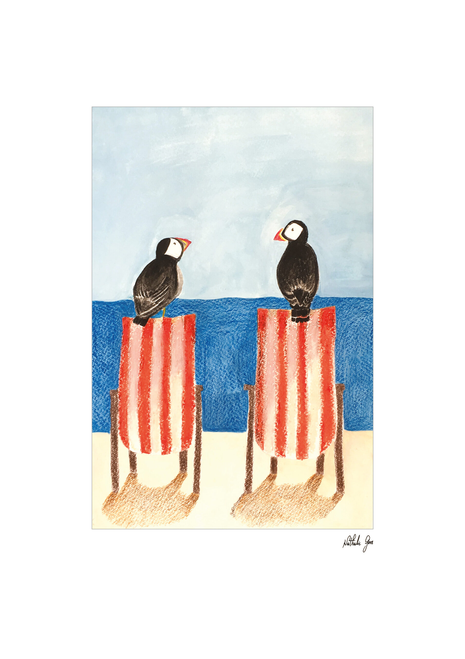 Puffins couple
